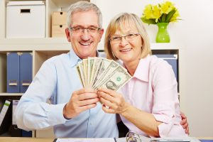 A Pair of Seniors with Money